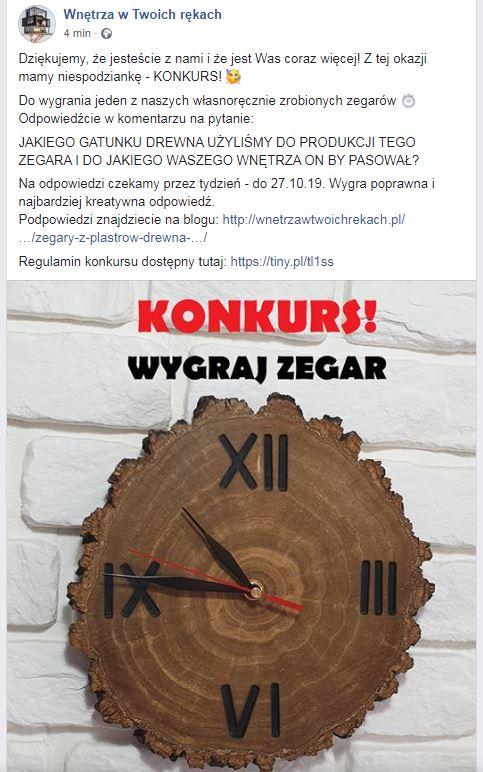 konkurs wygraj zegar