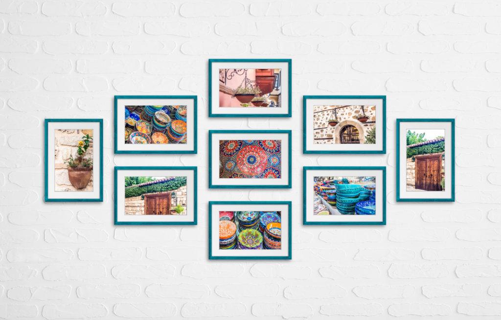 jak wieszać zdjęcia na ścianie