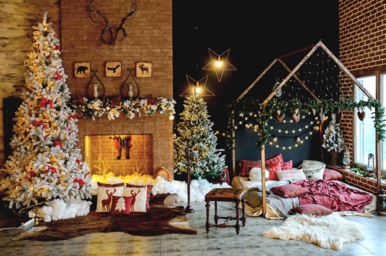 świąteczne ozdoby wnętrze