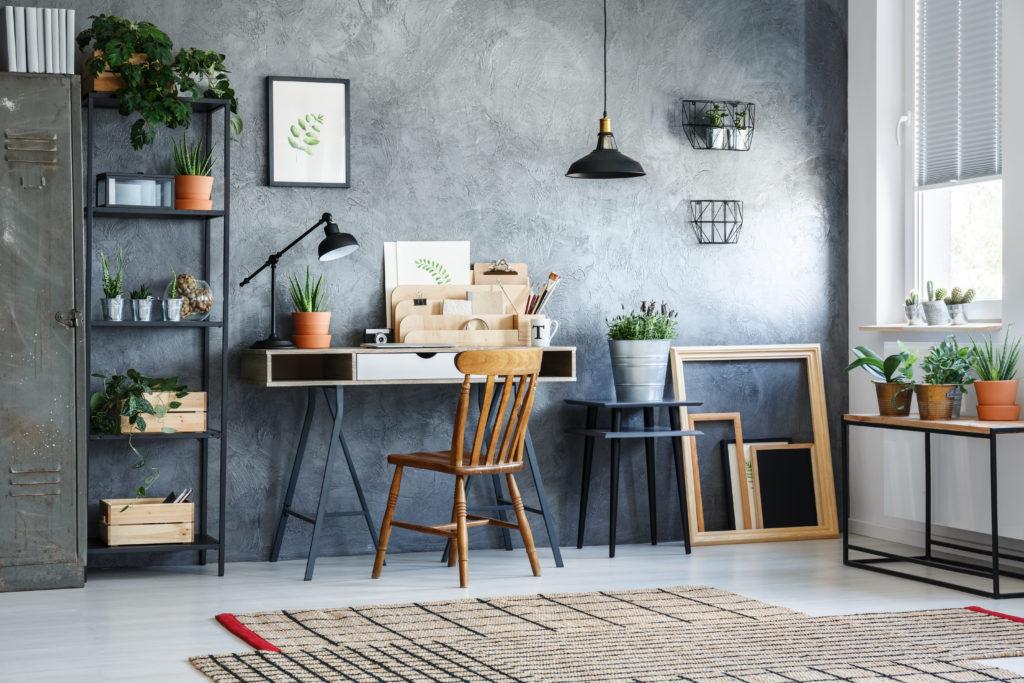 jak urządzić domowe biuro - home office