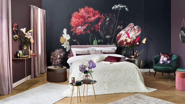 floral print-tapeta w duże kwiaty