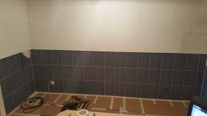 Kuchnia - ściana z glazurą