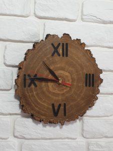 zegary z plastrów drewna brzozowego