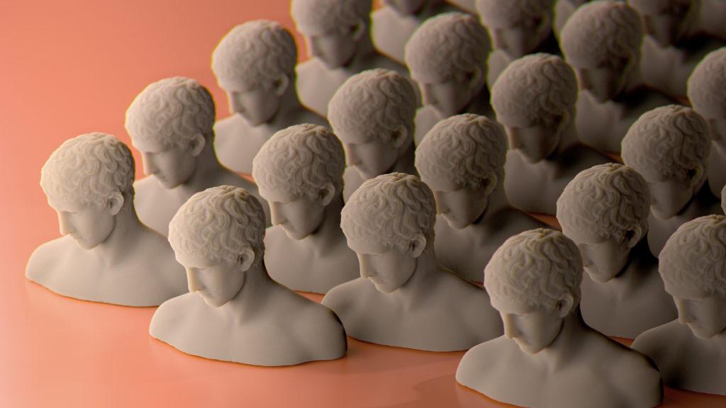 antyczne figury - neoantyk wnętrzarski trend