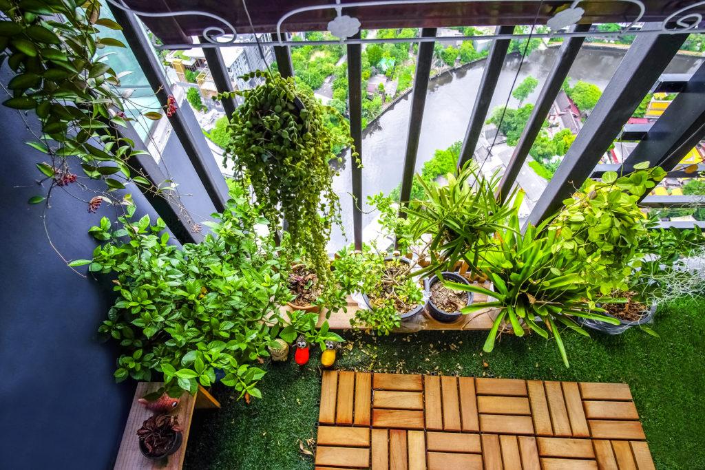balkon w wiejskim stylu